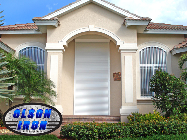 Rolling shutters and drop shades by olson iron las vegas nevada residential and commercial - The rolling shutter home in bohemia ...